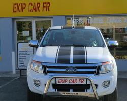 EKIP CAR FR création et pose bandes noires sur Ford ranger