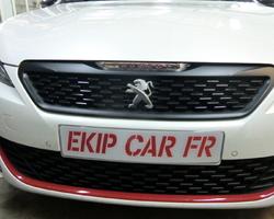 EKIP CAR FR recouvrement calandre en noir mat