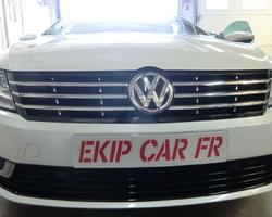 EKIP CAR FR Covering calandre noir satin sur Volkswagen passat cc
