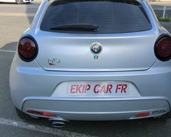 EKIP CAR FR covering sur enjoliveurs de feux chromés en noir mat + film fumé sur feux